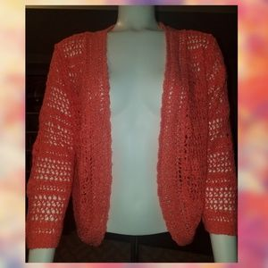 United States Sweaters Coral Cardigan Size XL